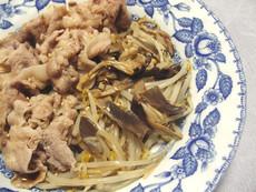 ゆで豚とブラウンしめじのゴマポン酢和え